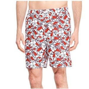 Men's Hibiscus Whale Swim Trunks vineyard vines